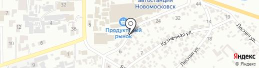 Ялинка на карте Новомосковска