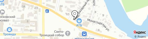 Автостиль на карте Новомосковска