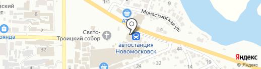 Магазин теплового оборудования на карте Новомосковска