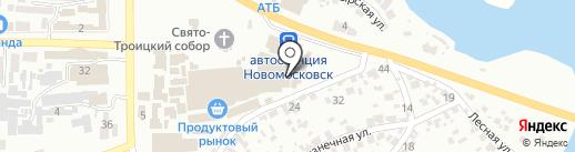 Корчма на карте Новомосковска