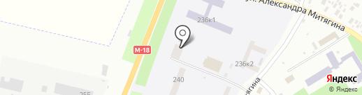 Почтовое отделение №8 на карте Новомосковска
