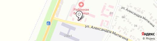 Магазин стройматериалов на карте Новомосковска