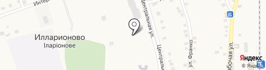 Іларіонівська бібліотека №1 на карте Илларионово