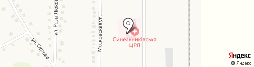 Синельниківська центральна районна лікарня на карте Илларионово