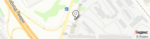 Неон на карте Твери