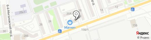 Полтинник на карте Твери