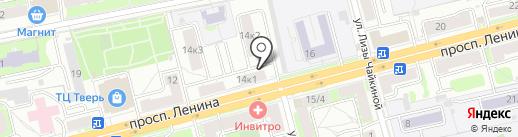 Сласти на Ленина на карте Твери
