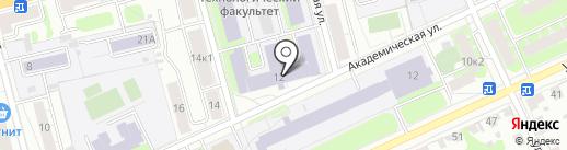 Тверской государственный технический университет на карте Твери