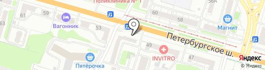Хозтовары на Ленинградке на карте Твери