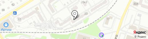 Акварель на карте Твери