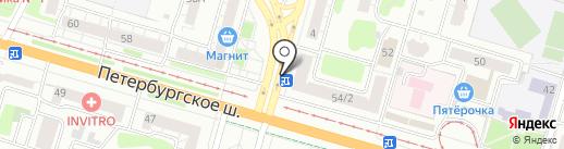 Цветочный киоск на карте Твери