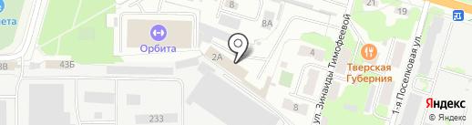 Литком-Тверь на карте Твери