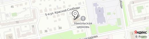 Тандем на карте Твери