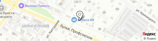 Колесо 69 на карте Твери