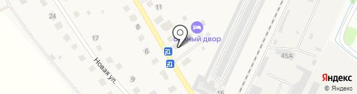 Банный двор на карте Дубровок