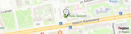 Пекарня Яковлевых на карте Твери
