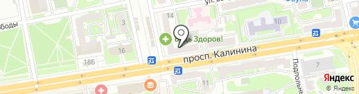 Полесье на карте Твери