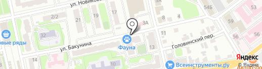 Элдент на карте Твери