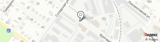 Станция Тверь на карте Твери