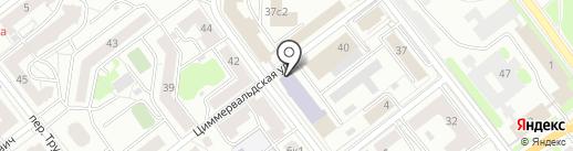 Московский гуманитарно-экономический институт на карте Твери