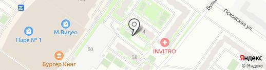 Тверьагрострой на карте Твери