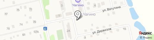 Чагино на карте Бурашево