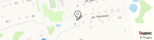 Чагино Тверь на карте Бурашево