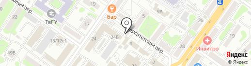 Парикмахерская эконом-класса на карте Твери