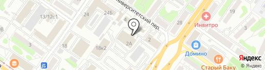 Деловой квартал на карте Твери
