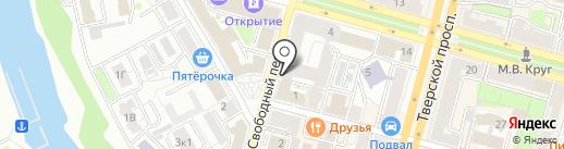 Яффо на карте Твери