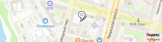 Клевер на карте Твери