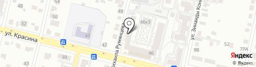 Интэк на карте Твери