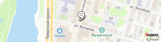 Mikca на карте Твери