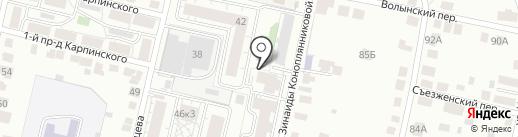 Расцвет на карте Твери