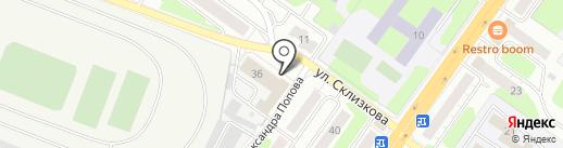 Настил на карте Твери
