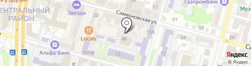 Зеркало на карте Твери