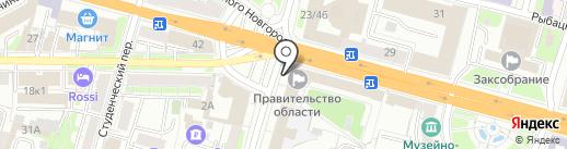 Аппарат Правительства Тверской области на карте Твери