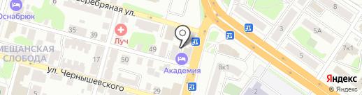 Юмор FM, FM 105.9 на карте Твери