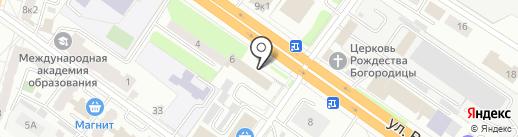 Адвокатский кабинет Акуева М.А. на карте Твери