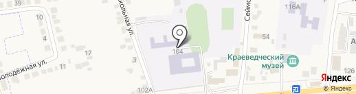 Ленинская школа Октябрьского района на карте Прямицыно
