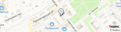 Павловские шали на карте Товарково