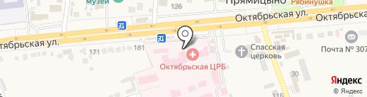 Октябрьская центральная районная больница на карте Прямицыно