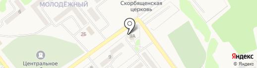 Первомайский на карте Товарково