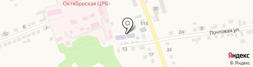Октябрьская открытая (сменная) общеобразовательная школа на карте Прямицыно
