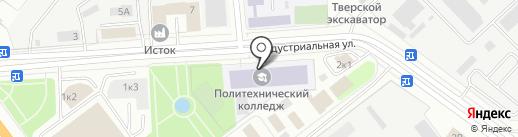 Тверской политехнический колледж на карте Твери