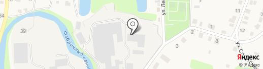 Полотняно-заводская бумажная фабрика на карте Полотняного Завода