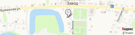 Магазин постельных принадлежностей на карте Полотняного Завода