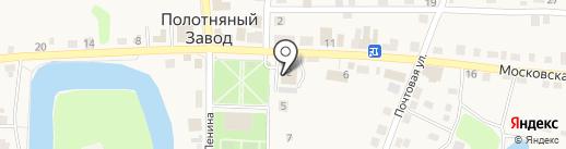 Магазин мебели и бытовой техники на карте Полотняного Завода