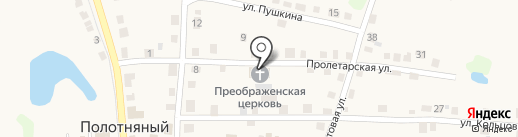 Храм Преображения Господня на карте Полотняного Завода