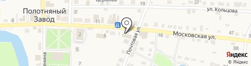 Праздничный на карте Полотняного Завода
